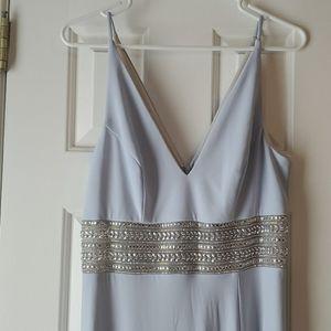 Pale Blue Beaded Evening/Prom Dress